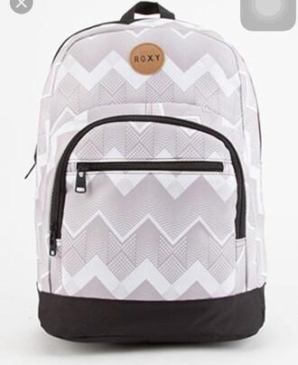 bag grey white roxy backpack