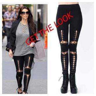 pants leggings kim kardashian bottoms