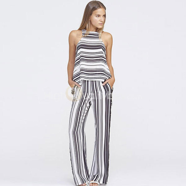 23a9174ad34 jumpsuit fashion dress black and white stripes stylish jumpsuit black and  white t-shirt fashion