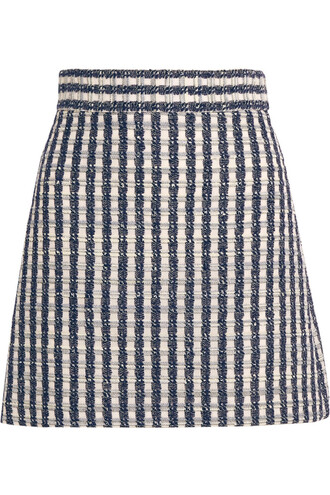 skirt mini skirt mini wool blue