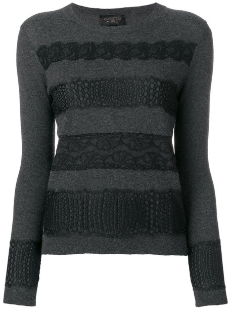 GIAMBATTISTA VALLI sweater women lace grey