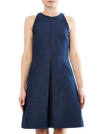 dress blue kassel dress blue dress cotton dress