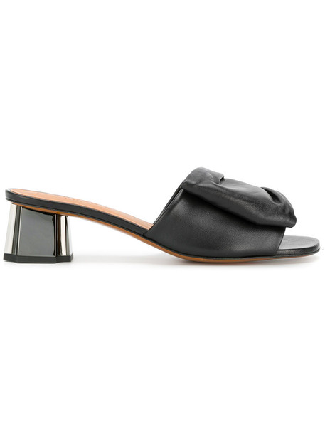 Robert Clergerie women slippers leather black shoes