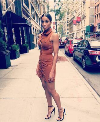 dress ciara mini dress sandal heels hot black girls killin it
