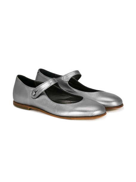 leather grey shoes