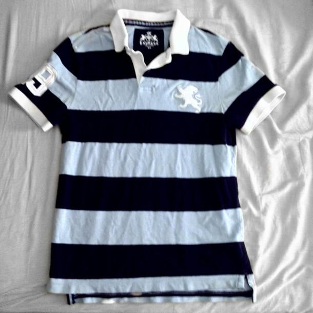 Clothes Express Shirt Polo Shirt Rugby Stripes Mens Shirt