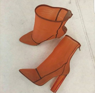 shoes brown boots high heels boots brown boots clear heels orange grunge instagram