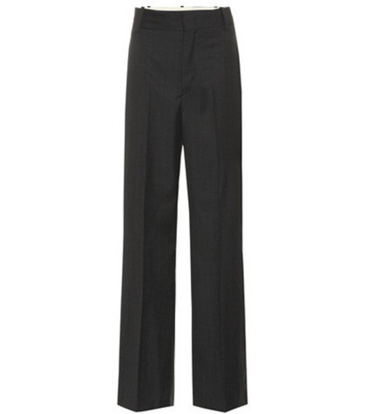 Isabel Marant, Étoile Nedford high-waisted wool pants in grey