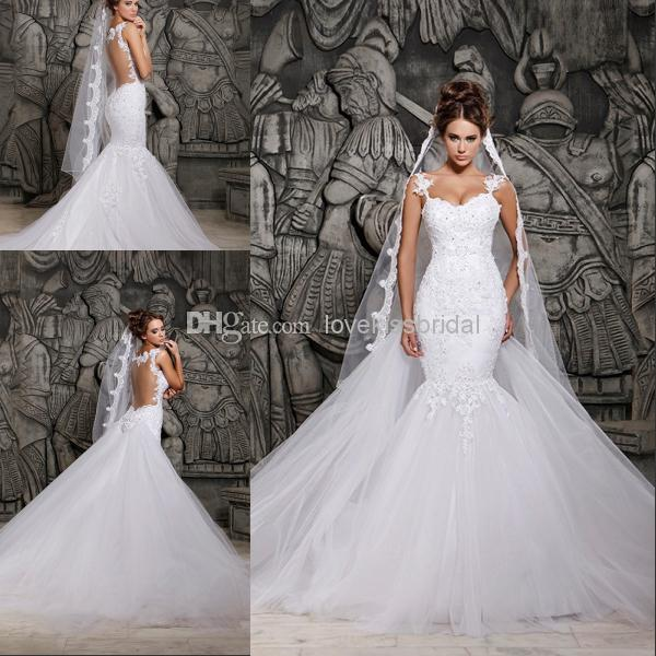 Cheap Mermaid Wedding Dresses - Discount 2014 Elegant Sweetheart Mermaid Wedding Dresses Beads Sequin Online with $174.87/Piece | DHgate