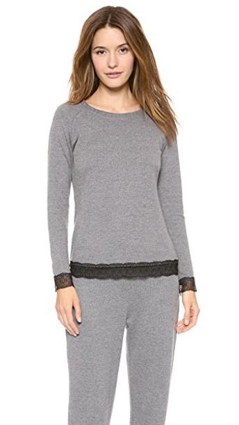 top long black grey heather grey