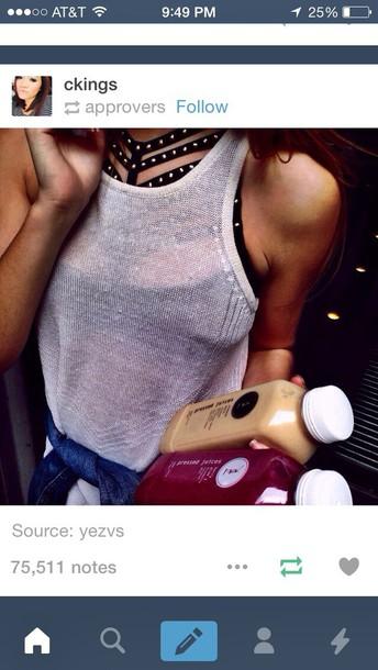 blouse tank top bra cut-out bra underwear