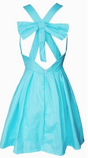 Angel Cut Out Skater Dress