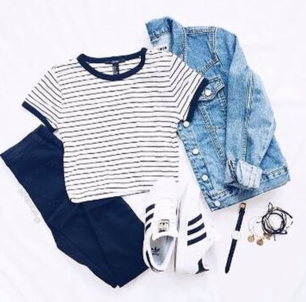 tshirt stripes hipster wheretoget