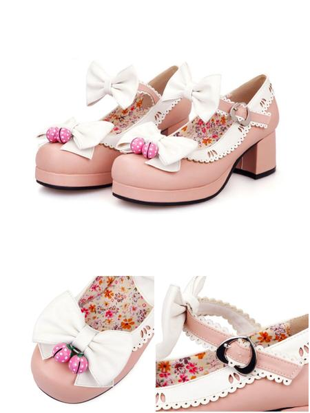 Sweet Strawberry Bell Shoes