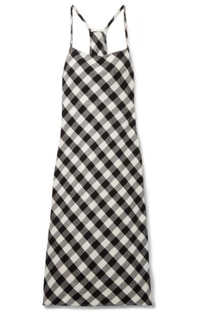 Skin cotton black gingham flannel underwear