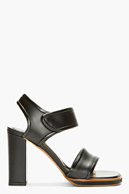 Marni Black Leather Heeled Sandals for women | SSENSE