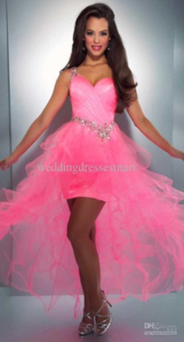Dress Mac Duggal Prom Dresses Sequins Cute Neon Pink Wheretoget
