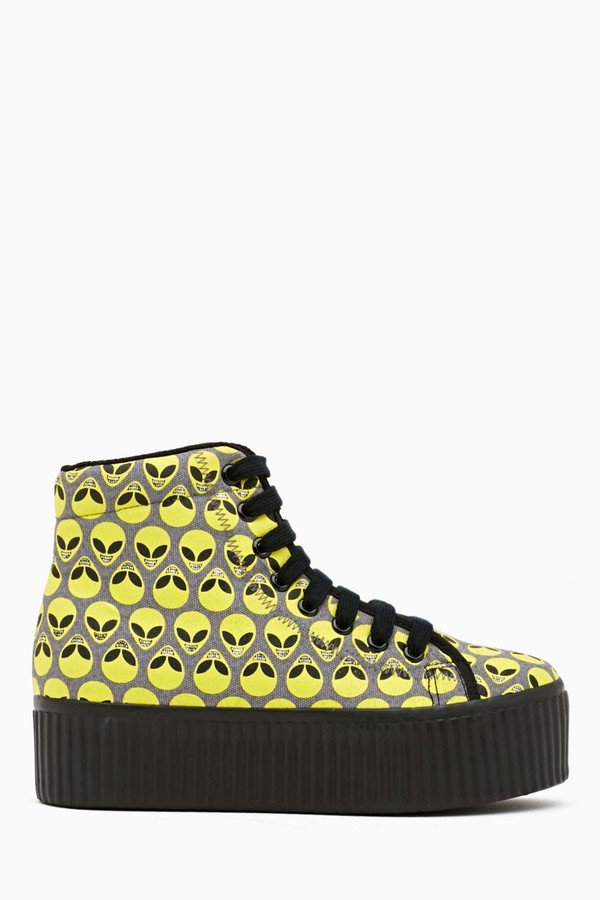 shoes jeffrey campbell homg platform sneakers alien