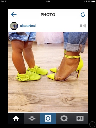 yellow shoes mother and daughter mother and child