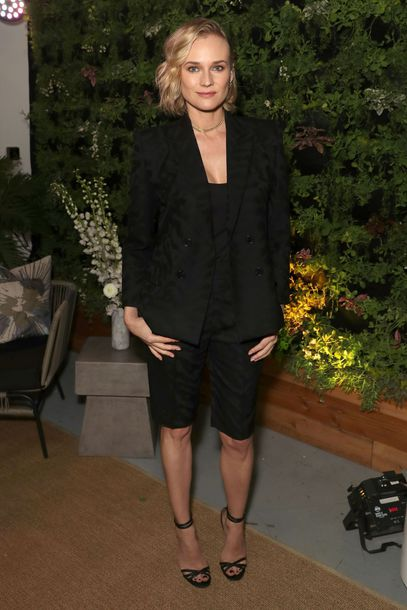 shorts diane kruger all black everything black blazer blazer