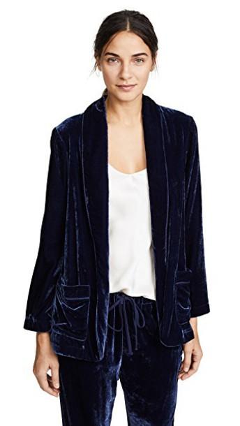 XIRENA jacket velvet blue