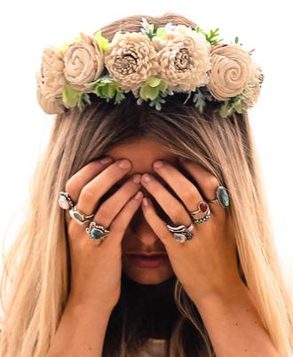 jewels flowers crown summer handmade ring jewelry
