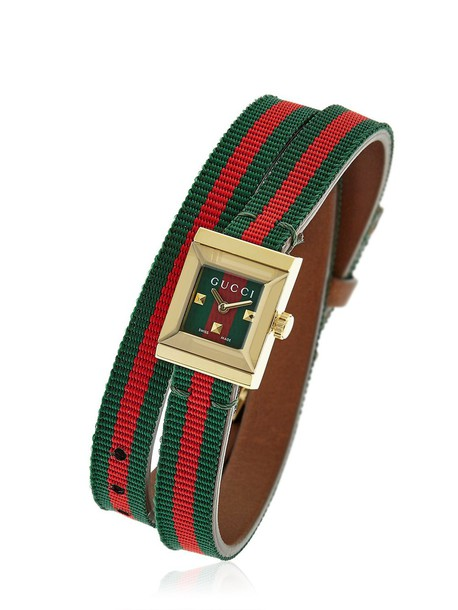 gucci watch green red jewels