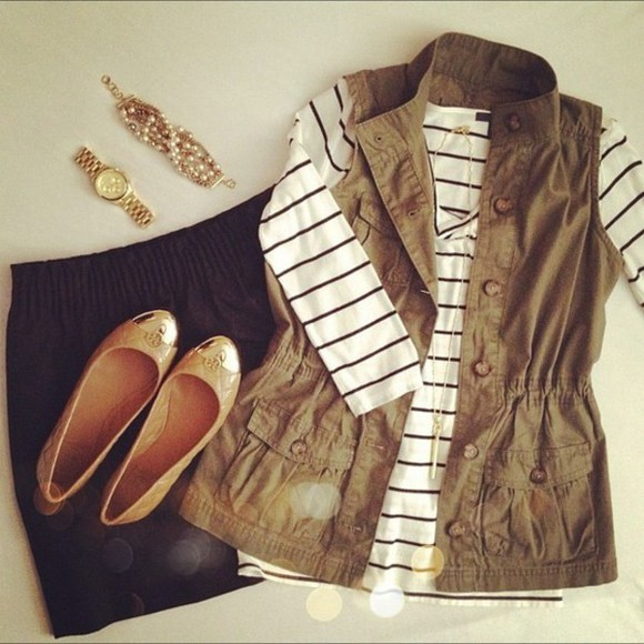 vest blouse long sleeve shirt coat striped shirt