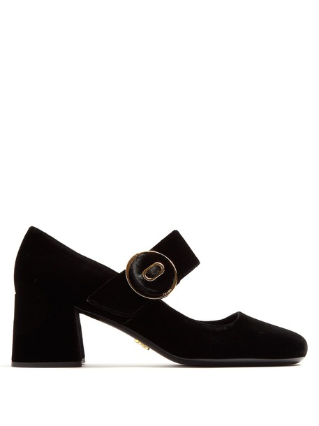 Prada pumps velvet black shoes