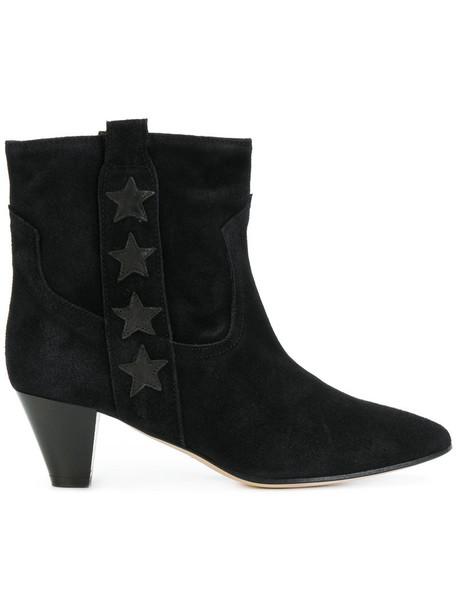 Marc Ellis women ankle boots leather suede black shoes