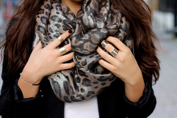 scarf cheetah leopard sparkle fashion