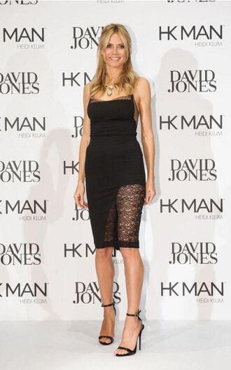 skirt top pencil skirt heidi klum sandals two-piece shoes
