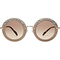Miu miu - noir embellished round sunglasses with suede