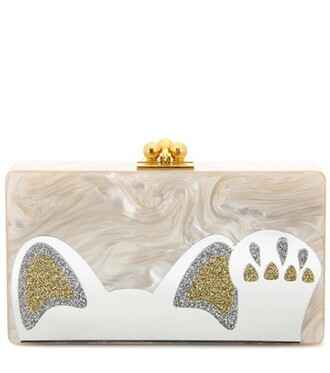 clutch beige bag