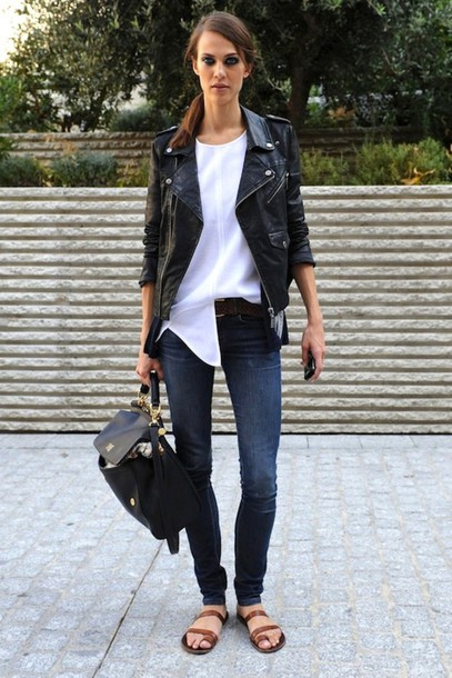 le fashion image jacket t-shirt jeans shoes bag