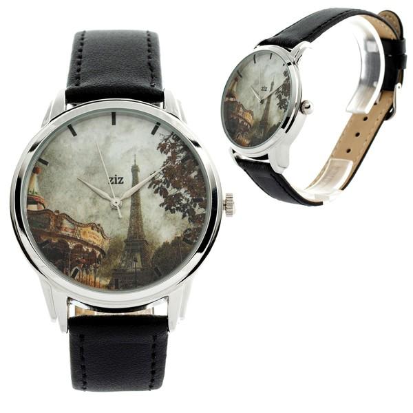 jewels ziziztime ziz watch watch paris vintage old picture watch eiffel tower merry-go-round