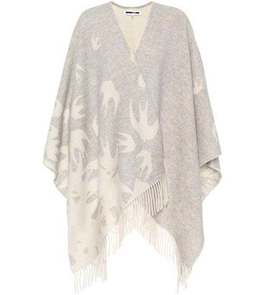 McQ Alexander McQueen scarf wool grey