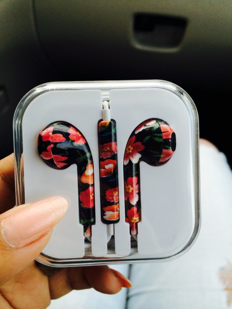 earphones iphone 5 case iphone 6 case headphones floral fashion pink purple phone cover iphone floral headphones black and red black earphones black red flowers black red headphones flower headphones red headphones tumblr white earphones golden earphones apple earphones pink earphones colorful earphones flower earphones floral earphones metallic stereo earbuds blouse floral apple pretty cute earbuds assesories