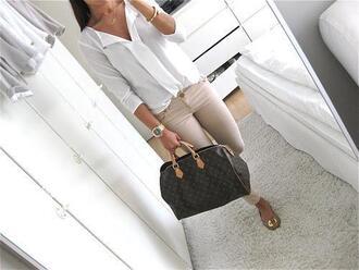 blouse classy outfit v neck