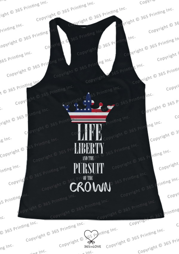 tank top life liberty and the pursuit of the crown sorority pursuit of the crown july 4th independence day red white and blue crown shirt stripes stars merica