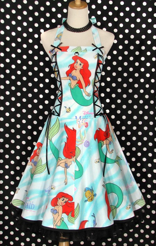 The little mermaid ariel halter corset dress by thevintagedoctor