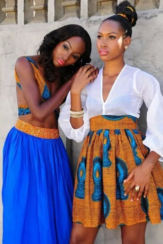 skirt african dress african print ethnic aztec colourful