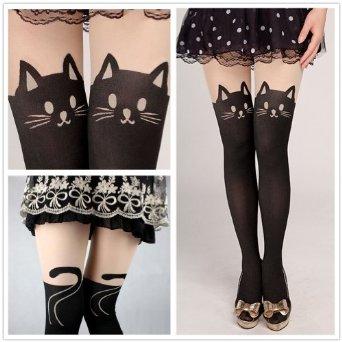 Amazon.com: fun daisy tights stockings cat tail tattoo lovely socks lady pantyhose (black cats): clothing