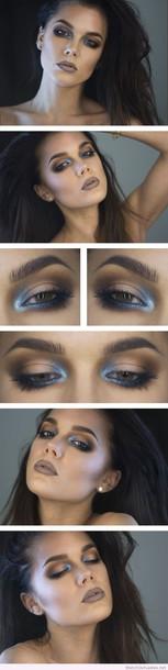 make-up linda hallberg dark makeup blue accent blue accents