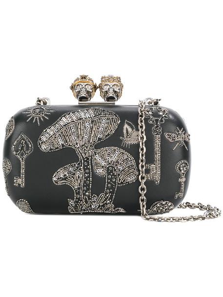 Alexander Mcqueen women king bag clutch leather black