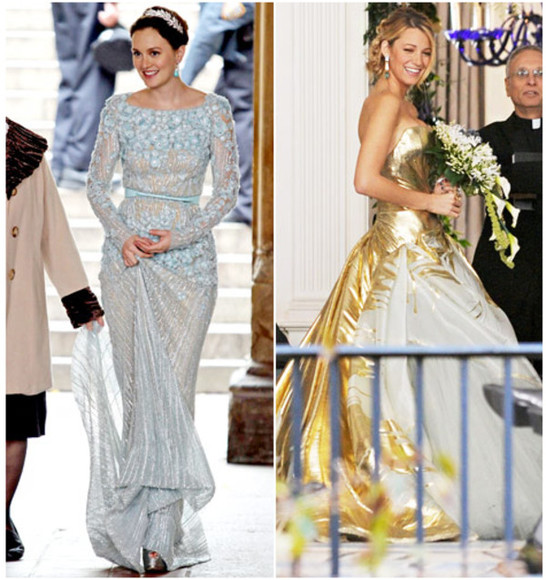 serena van der woodsen gossip girl dress wedding blair waldorf