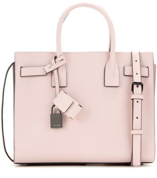 Saint Laurent baby leather pink bag