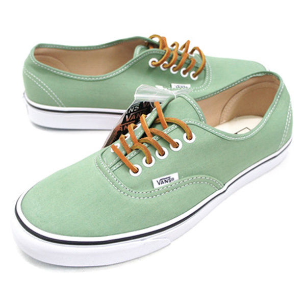 Vans Authentic Brushed Twill Green White New! 451ebdf977c4