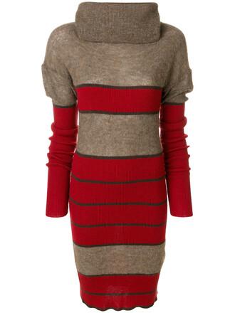 dress women wool brown