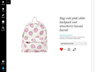 bag strawberry pink kawaii backpack